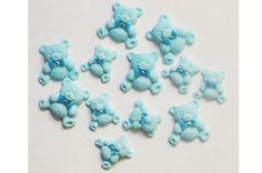 Blue Teddy Bears Edible Toy Sugar Birthday Baby Shower Cake Cupcake Toppers | eBay