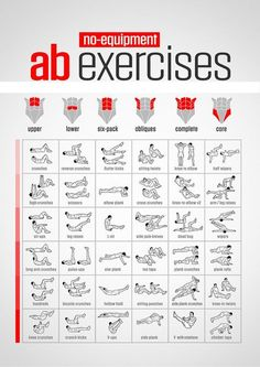 Abs exercises at home (Six Packs) Bodyweight exercises always recruit more than one muscle group for each exercise so it is impossible to isolate and work one muscle group specifically by doing one…