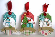 Snowman Tags by girlydecou - Cards and Paper Crafts at Splitcoaststampers