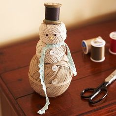 Cute Homespun Snowman