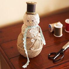 Cute Homespun Snowman
