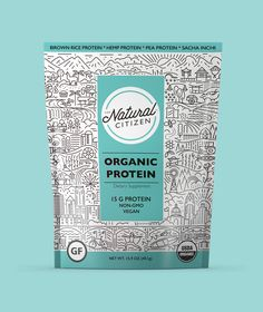 The Natural Citizen specialise in organic, non-gmo, vegan, whole food smoothie boosters. We used their carefully selected list of natural ingredients as inspiration for each variant. We included various locations and landscapes to create a patterned illustration for the packaging.