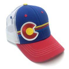Kid's Colorado Flag Candystripe Snapback Trucker Hat