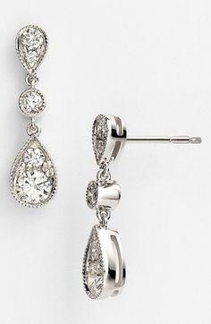 Kwiat 'Sunburst' Diamond Drop Earrings