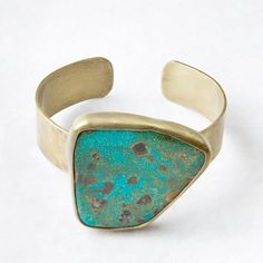 Roost Royston Turquoise & Brass Cuff Womens Apparel at Vickerey
