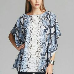 Michael Kors snake/python print kimono top Michael Kors snake/python print kimono top, size small/medium. Beautiful top that has only been worn once, so it is in excellent condition. Michael Kors Tops