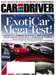 Car and Driver Magazine November 2010 – ExoticCar « Library User Group
