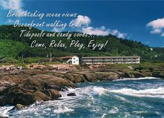 For some of the finest lodging on the central Oregon coast visit the Overleaf Lodge resort hotel in Yachats, Oregon where every room has an ocean view