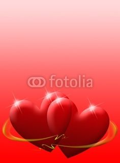 #Glossy #Love Hearts #Valentine's Day #Card © bluedarkat