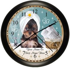 ※♥※♥ Woof Spoken Here ※♥※♥ Collection  PET GROOMING  Wall Clocks. Your Choice Of One.By Simply Southern Gift on Etsy