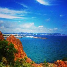 Cannes au loin,  depuis Théoule