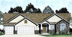 1527 sf Elevation of Traditional   House Plan 62643