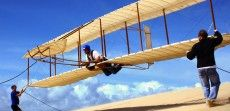 Hang gliding lesson in a replica wright brothers glider Kitty Hawk Kites, Wright Brothers, Kite Flying, Hang Gliding, Gliders, Stuff To Do, Tours, Adventure, History