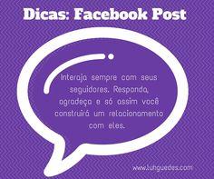 Quer melhorar suas postagens no facebook?  Dica 2 #dica #facebook #post #midiassociais #socialmedia
