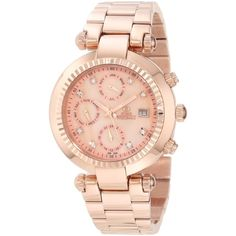 Swiss Precimax Avant SL Mother-Of-Pearl Dial Rose-Gold Stainless Steel... ($95) ❤ liked on Polyvore featuring jewelry, watches, sport watches, sports jewelry, gold stainless steel jewelry, rose gold stainless steel jewelry and water resistant watches