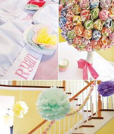 I love the idea of a dum dum lollipop topiary for a party! How simple and fun!