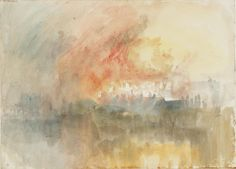 Joseph Mallord William Turner, 'Fire at the Grand Storehouse of the Tower of London' 1841