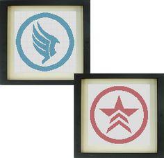 Mass Effect Paragon/Renegade Cross Stitch Pattern by TheIronStitch, £1.75