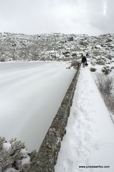 Frozen lake in the Serra da Estrela mountains in central Portugal. Image taken during a snow hike. Click to read the story and see more images.