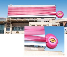 Hubba Bubba Billboard The longest chewing gum ever Street Marketing, Guerilla Marketing, Guerrilla Advertising, Clever Advertising, Viral Marketing, Advertising Design, Marketing And Advertising, Advertising Industry, Advertising Campaign
