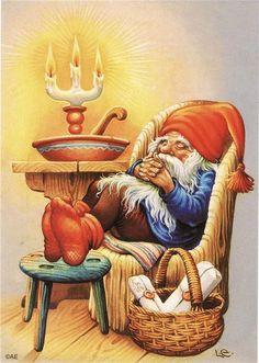 tubes noel - Page 215 Illustration Noel, Christmas Illustration, Illustrations, Vintage Postcards, Vintage Images, Clipart Vintage, Christmas Elf, Vintage Christmas, Kobold