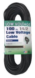 Coleman Cable 095041008 14/2 Low Voltage Lighting Cable, 100-Feet - Amazon.com  $32