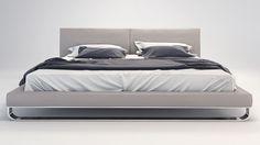 Lucca Bed - Grey | Zuri Furniture #ZuriFurniture