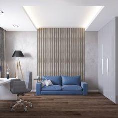 Кабинет синий диван
