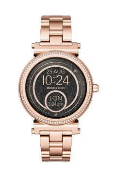 Michael Kors Access Sofie Touchscreen Smartwatch - Women Wrist Watch on YOOX. The best online selection of Wrist Watches Michael Kors Access. YOOX exclusive items of Italian and international designers - Secure payments Michael Kors Jewelry, Michael Kors Watch, Micheal Kors Smart Watch, Smart Bracelet, Bracelet Watch, Rose Gold Watches, Cool Watches, Women's Watches, Guess Watches