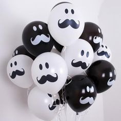 Black & White Latex Balloons Smile Mustache Assorted Birthday Baby shower wedding Party Decorations Supplies by rimrimflower on Etsy Mustache Birthday, Mustache Party, Baby Boy 1st Birthday, Moustache, Lego Birthday, Birthday Party Decorations, Baby Shower Decorations, Birthday Parties, Wedding Parties