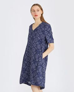 Carolyn Donnelly - The Edit | NAVY Carolyn Donnelly The Edit Geometric Dress | Dunnes Stores