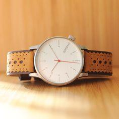 Monday pick: Winston Brogue Macchiato with brushed silver case. #komono #watches www.komono.com