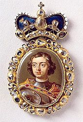 Diamond Order of Peter the Great:Crowned Tsar of Russia on April became Emperor of Russia on October 1721 Born: May 30 (June Moscow Died: January 28 (February St. Pedro O Grande, Tsar Nicolas, House Of Romanov, Peter The Great, Miniature Portraits, Arts Award, Family Jewels, Royal Jewelry, Crown Jewels