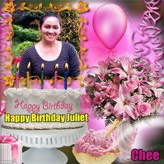 Happy Birthday! Birthday Frames, Birthday Photos, Happy Birthday, Birthday Cake, Birthday Candles, Birthdays, Templates, Anniversary Photos, Happy Anniversary