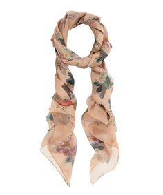 Rose Dragonfly and Hummingbird scarf, Alexander McQueen