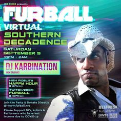 Furball Virtual Southern Decadence featuring KarbiNation (New Orleans) LIVE behind the decks. Check out J Warren's set as well on Mixcloud Furball. Southern Decadence is many things - dirty - fun - hot! Unfortunately we could not meet together in person this year - but we created a virtual set till we can meet again! Enjoy! Get The Party Started, Live In The Now, Decks, New Orleans, Southern, Meet, Fun, Fin Fun, Front Porches