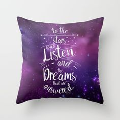 Acomaf- To The Stars Who Listen And The Dreams That Are Answered Couch Throw Pillow by Whispering Words - Cover x with pillow insert - Indoor Pillow Down Pillows, Throw Pillows, Sarah J Maas Books, A Court Of Mist And Fury, Throne Of Glass, Book Fandoms, Book Of Life, My New Room, Dorm Decorations