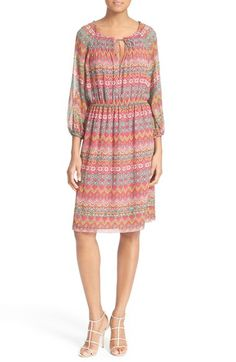 Diane von Furstenberg 'Parry' Print Silk Dress available at #Nordstrom