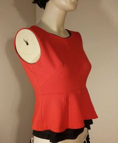 Vince camuto peplum top size XS red in Clothing, Shoes & Accessories, Women's Clothing, Tops & Blouses | eBay
