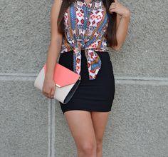 outfit, ootd, fashion, blog, strappy heels, skirt, fedora hat, aztec print, http://blogalinapop.wordpress.com/
