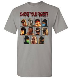 "MK I and II Cast ""Choose Your Fighter"" Men's T-Shirt"