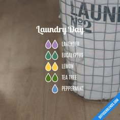 Laundry Day Essential Oils Diffuser Blend ••• Buy dōTERRA essential oils online at www.mydoterra.com/suzysholar, or contact me suzy.sholar@gmail.com for more info.