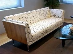 The Goetz sofa in Eames Dot fabric by Herman Miller