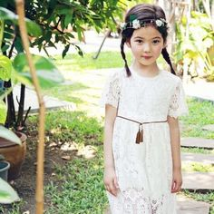 Peach & Cream Vera Lace Dress - Jujubunnyshop