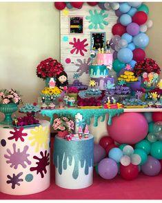 Festa Slime. Por @lelenzoeventos #encontrandoideias #blogencontrandoideias #festaslime #galeriaslime