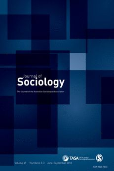 is the official journal of The Australian Sociological Association . It carries peer refereed articles of sociological research and theory on issues of int. Sociology Articles, Sociological Research, Peer Review, Media Studies, Social Behavior, Social Science, Journals, Study, Learning
