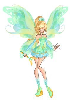 Here's Daphne from Winx Club in Mythix transformation. This commission is related to my version how Winx 6 should've been like:  If Roxy joined the Winx in season definitely think Roxy d. Bloom Winx Club, Daphne Winx, Winx Magic, Princesa Celestia, Les Winx, Club Design, Club Outfits, Magical Girl, Disney Art