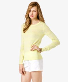 Essential Textured Stripe Sweater   FOREVER 21 - 2027704187