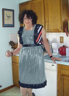 Inquiry answer wearing stockings with apron