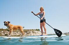 Paddle Boarding Girl with Dog. Surfing Dog. SUP dog. 2 Stand Up Guys Paddle Board Lessons & Sales 1701 Tamarack Ave Carlsbad, Ca 92008 (347)489-3926